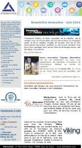 Newsletter ATEMATION - Juin 2016